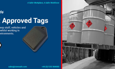 Proximity warning alert specialist, ZoneSafe, launches wearable tag approved for ATEX zone 2/22 environments